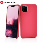rød Iphone 11 Pro Max Forcell silikone cover Mobil tilbehør