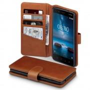 Nokia 8 brun læder etui Mobil tilbehør