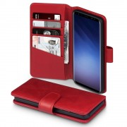 Premium cover ægte læder rød Galaxy S9 Mobilcover