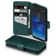 Samsung Galaxy S8 flip cover i ægte læder, grøn Galaxy S8 covers