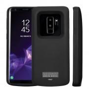 5000 mAH batteri cover Galaxy S9+ sort Mobil tilbehør