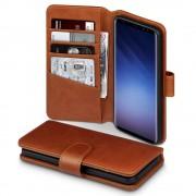 Premium cover ægte læder brun Galaxy S9 Mobilcover