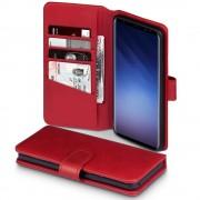 Galaxy S9 plus premium cover ægte læder rød Mobil tilbehør