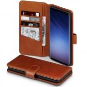 Galaxy S9 plus premium cover ægte læder brun Mobil tilbehør
