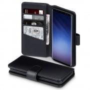 Premium cover ægte læder sort Galaxy S9 Mobilcover