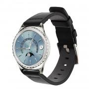 Vintage læder urrem sort Gear S2 classic Smartwatch tilbehør