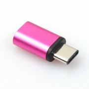 konverter Micro usb til usb type c adapter Mobiltelefon tilbehør rosa