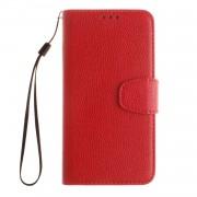 Huawei Y6 flipcover med lommer rød Mobilcovers