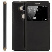 Smart cover med vindue Huawei Mate S sort Mobil tilbehør
