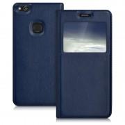 blå Smart cover med vindue Huawei P10 lite Mobil tilbehør