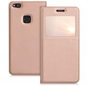 rosaguld Smart cover med vindue Huawei P10 lite Mobil tilbehør