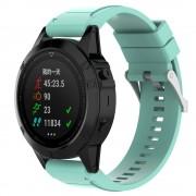 Silikone rem cyan Garmin Fenix 5X Smartwatch tilbehør