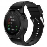 Silikone rem sort Garmin Fenix 5X Smartwatch tilbehør