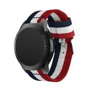 Samsung Gear S3 rem i blød nylon rød/hvid/blå Smartwatch tilbehør