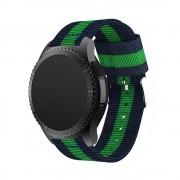 Samsung Gear S3 rem i blød nylon grøn/blå Smartwatch tilbehør