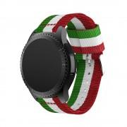 Samsung Gear S3 rem i blød nylon rød/hvid/grøn Smartwatch tilbehør