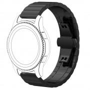 Solid stål rem sort Samsung gear S3 Smartwatch tilbehør