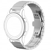 Solid stål rem sølv Samsung gear S3 Smartwatch tilbehør