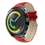 Læder rem rød Samsung gear sport Smartwatch urremme