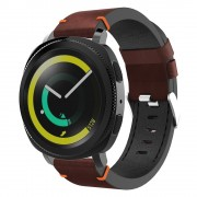 S-style læder rem mørkebrun Samsung gear sport Smartwatch tilbehør
