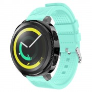Blød siliconerem cyan Samsung gear sport Smartwatch tilbehør