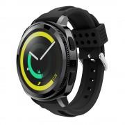 Siliconerem D-line sort Samsung gear sport Smartwatch tilbehør