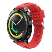 Siliconerem D-line rød Samsung gear sport Smartwatch tilbehør
