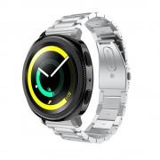 Klassisk rustfri stål rem sølv Samsung gear sport Smartwatch tilbehør