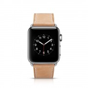 APPLE WATCH 42 MM Kajsa vintage læder urrem, khaki Smartwatch tilbehør