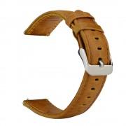 Læder urrem vintage brun Huawei watch 2 Smartwatch tilbehør