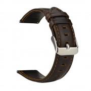 Læder urrem vintage mørkebrun Huawei watch 2 Smartwatch tilbehør