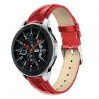 Galaxy Watch 46mm rød læder rem croco Smartwatch tilbehør