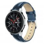 Galaxy Watch 46mm blå læder rem croco Smartwatch tilbehør