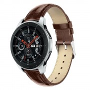 Galaxy Watch 46mm brun læder rem croco Smartwatch tilbehør