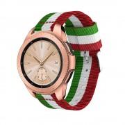 Galaxy Watch 42mm blød nylon rem grøn/hvid/rød Smartwatch tilbehør