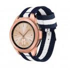 Galaxy Watch 42mm blød nylon rem blå/hvid Smartwatch tilbehør