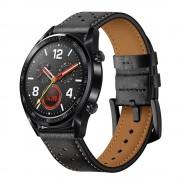 sort Læder rem Huawei Watch GT Smartwatch tilbehør