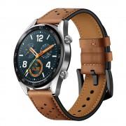 brun Læder rem Huawei Watch GT Smartwatch tilbehør