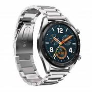 sølv Klassisk urrem rustfri stål Huawei Watch GT