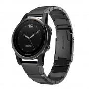 sort Luksus rustfri stål lænke Garmin Fenix 5S Smartwatch tilbehør