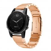 rosaguld Luksus rustfri stål lænke Garmin Fenix 5S Smartwatch tilbehør