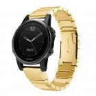 guld Luksus rustfri stål lænke Garmin Fenix 5S Smartwatch tilbehør