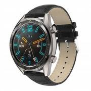 sort Croco læder rem Huawei Watch GT