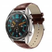 brun Croco læder rem Huawei Watch GT Smartwatch tilbehør