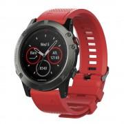 Quick release silikonerem Garmin Fenix 3 rød Smartwatch tilbehør