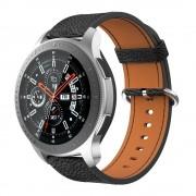 sort Blød læder rem Samsung Watch 46mm Smartwatch tilbehør