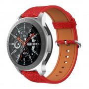 rød Blød læder rem Samsung Watch 46mm Smartwatch tilbehør