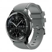 Til Samsung Gear 3 grå Sports silikone urrem Smartwatch tilbehør Leveso.dk