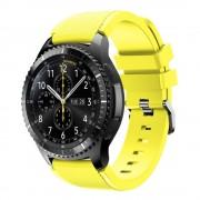 til Samsung Gear 3 Sports silikonerem gul, Smartwatch tilbehør