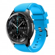 Til Samsung Gear 3 lyseblå Sports silikonerem Smartwatch tilbehør hos Leveso.dk